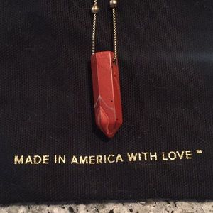 ALEX AND ANI 2016 Red Jasper necklace